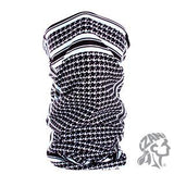 Zan Headgear Motley Tube Polyester Houndstooth Blk & Wht (ZH-T235BW) - Hahn's World of Surplus & Survival
