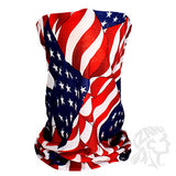 ZAN Headgear Motley Tube Wavy American Flag (ZH-T265) - Hahn's World of Surplus & Survival