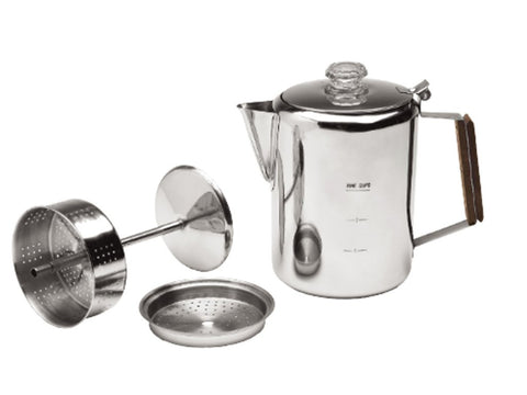 Texsport 9-Cup Stainless Steel Percolator