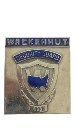 Obsolete Badge - Wackenhut Security Guard