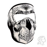 ZAN Headgear Neoprene Full Mask Black & White Skull Face (ZH-WNFM002) - Hahn's World of Surplus & Survival
