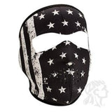 Zan Headgear Full Mask Neoprene Black/White Vintage Flag (ZH-WNFM091) - Hahn's World of Surplus & Survival