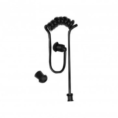 LAC COMMS Black Hypoallergenic Acoustic Tube Earpiece