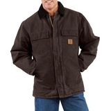 Carhartt Coat - Sandstone Traditional / Arctic Quilt Lined - Dark Brown (CH-C26-DKB)