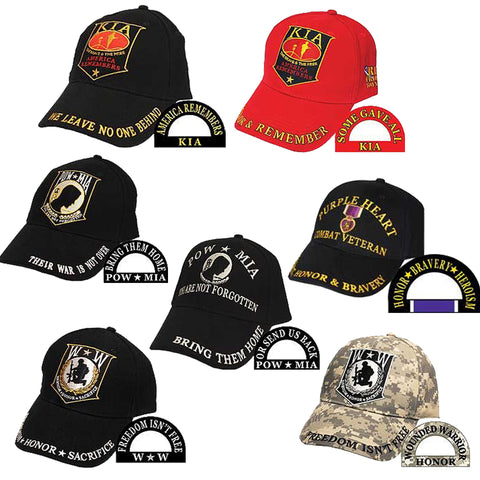Ballcap - POW-MIA, KIA, Honor & Wounded Warrior