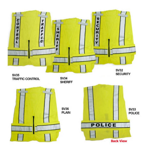 1st Class Uniforms Reflective Duty Vest - Security ID (FCSV32)
