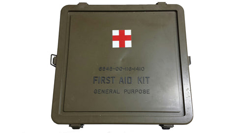 LIMITED Empty First Aid Kit General Purpose Box  (HWS-F-AID-K-BOX) - Hahn's World of Surplus & Survival
