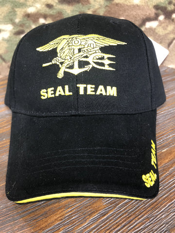 Ballcap -  Navy Seal Team w/Trident