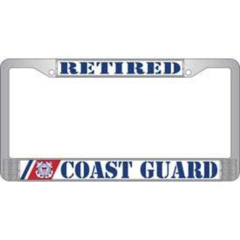 License Plate Frame -  USCG, Retired (EM-LP3995)