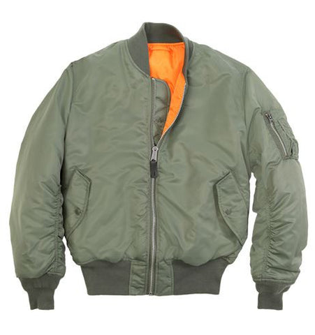Alpha MA-1 Flight Jacket Nylon - Sage (ALPHA-MJM21000C1) - Hahn's World of Surplus & Survival - 1