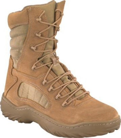 "Reebok 8"" Desert Tactical Boot Berry Compliant (RB8994) - Soft Toe; Suede Leather and Ballistic Nylon"