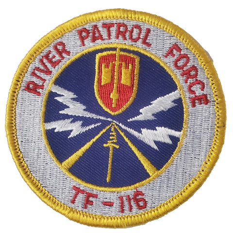 Patch -  River Patrol Force Vietnam TF-116 Iron-on