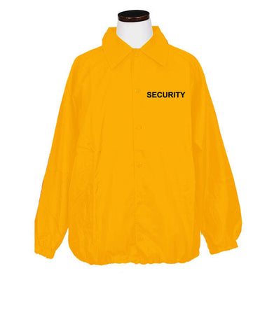 1st Class Uniforms Yellow Windbreakers - Security ID (FCWB17)