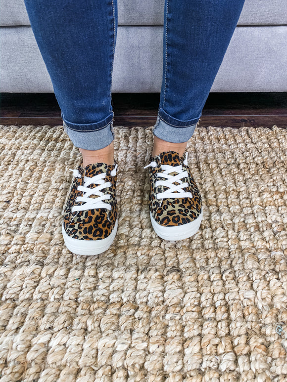 Leopard Simple Sneakers
