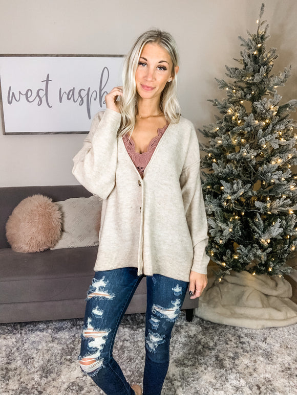 My Only Intentions Button Cardi **DOORBUSTER**