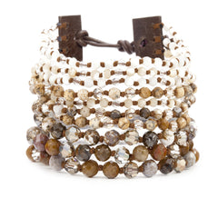 Chan Luu - Brown Mix Cuff Bracelet