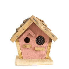 Reclaimed Wood Birdhouse - Pink