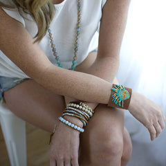 Hipanema -Brown Aztec Cuff