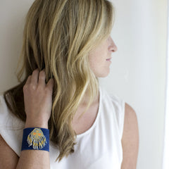 Hipanema Aztec Cuff - Royal Blue