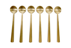 Coffee Spoons - Matte Gold