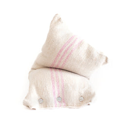Grain Sack Body Pillow -Pink