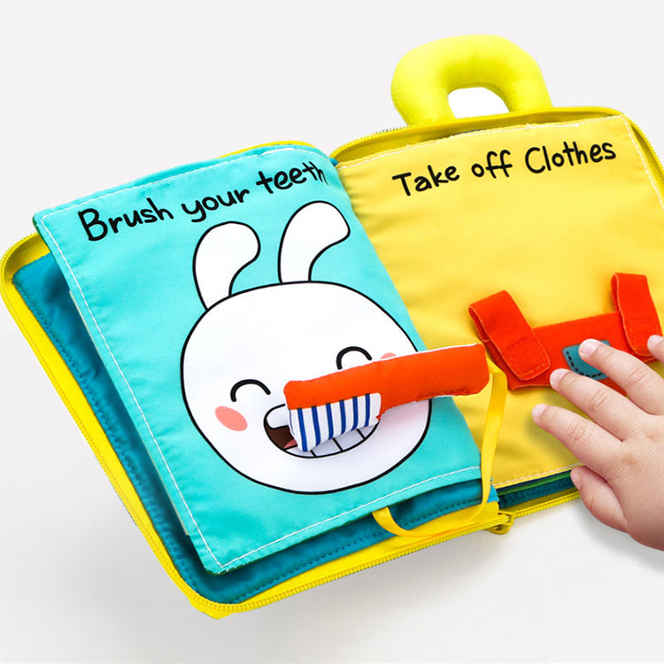 3D Books Fabric Activity for Baby /Toddler, Learning to Sensory Book!