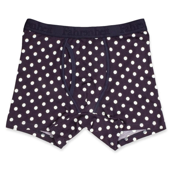 Newman Boxer Brief | Polka Dot Navy/White