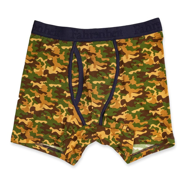 Newman Boxer Brief | Green Camouflage