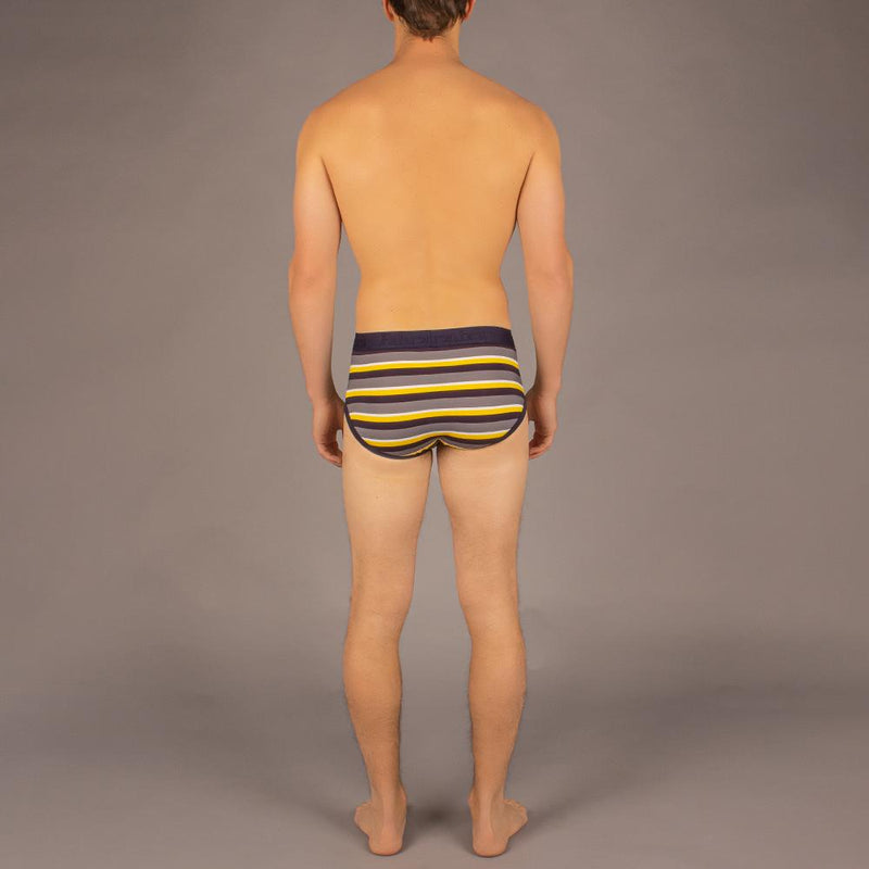 Wayne Brief | Stripe Yellow/Grey