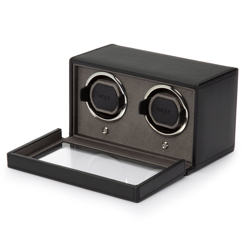 WOLF Cub Double Watch Winder with Cover