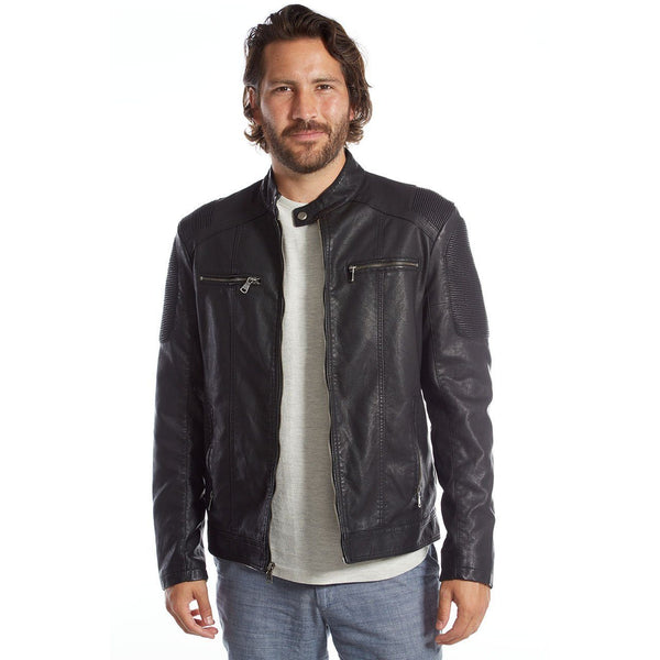 Justin Vegan Leather Moto Jacket