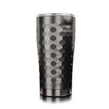SIC Cups 20 oz. Hammered Gunmetal Double Wall Insulated Tumbler