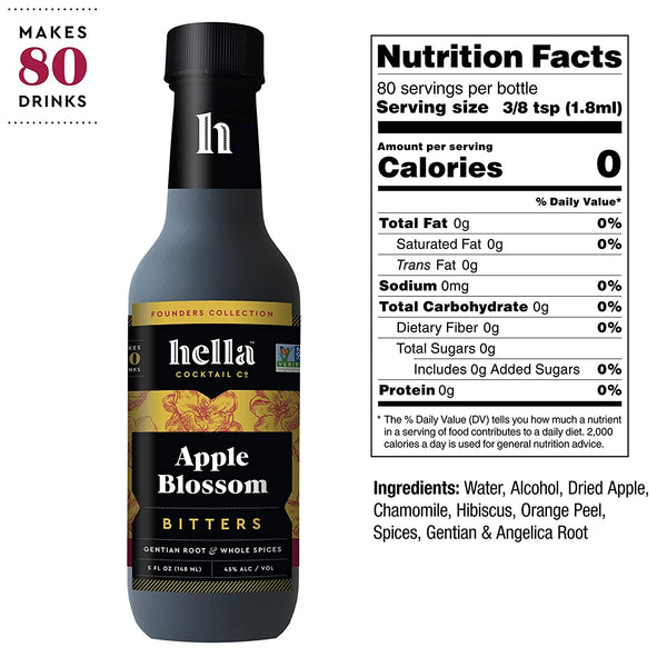 Hella Cocktail 8-Flavor Bitters Collection Set, 5oz