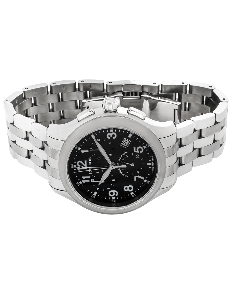TOURNEAU Chronometer - Stainless Steel Quartz Chronograph Watch - 42 mm