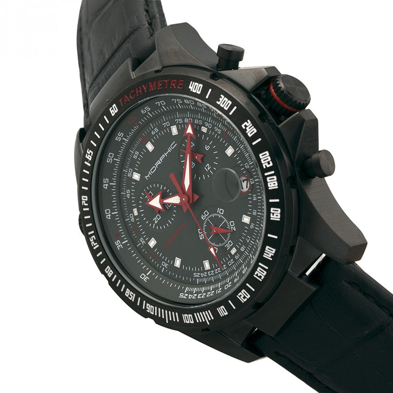 Morphic M36 Series Leather-Band Chronograph Watch