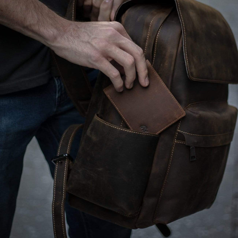 Leather Rugged Backpack - Terra