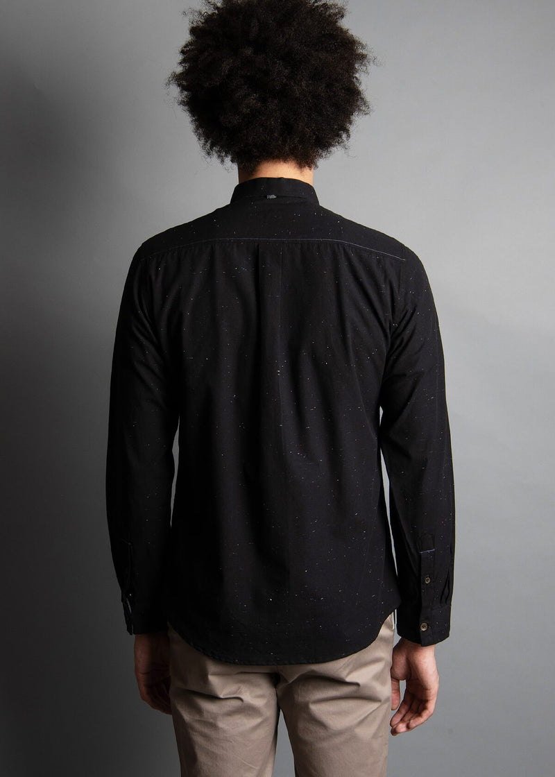 BLACK DOT SPECK LONG SLEEVE SHIRT