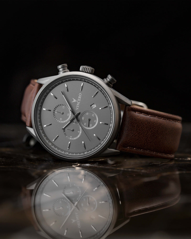The Chrono S - Gunmetal/Walnut