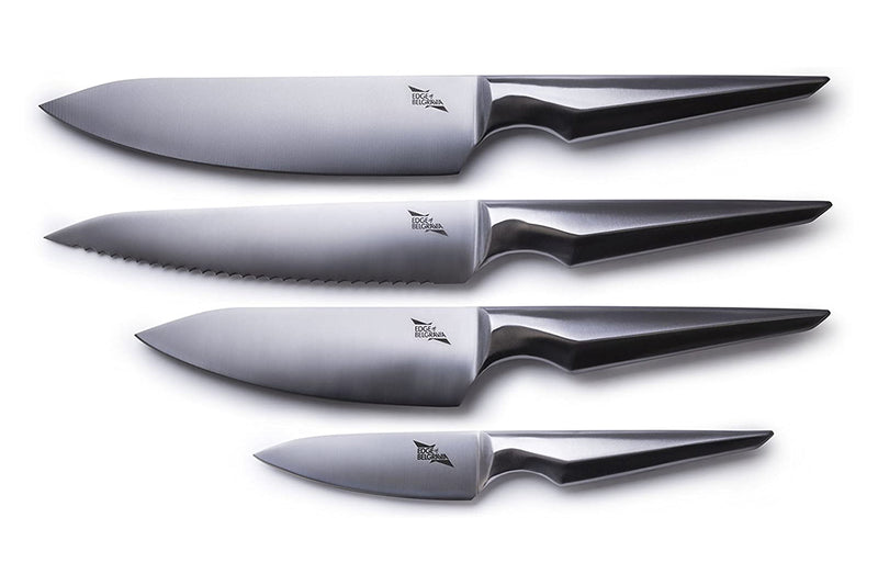 Edge of Belgravia Arondight 4-Piece Chef Knife Set with Magnetic Rack