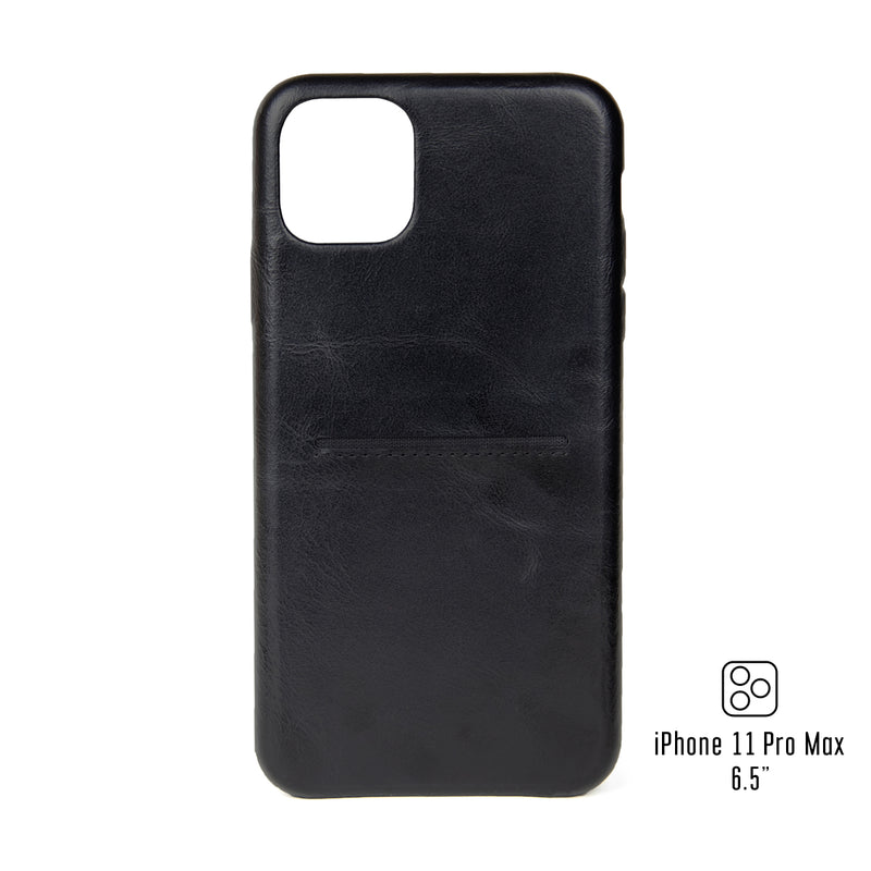 "Leather iPhone 11 Pro Max 6.5"" Cardholder Case"