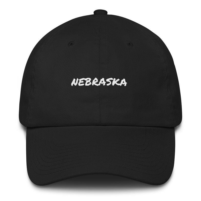 black-nebraska-dad-hat