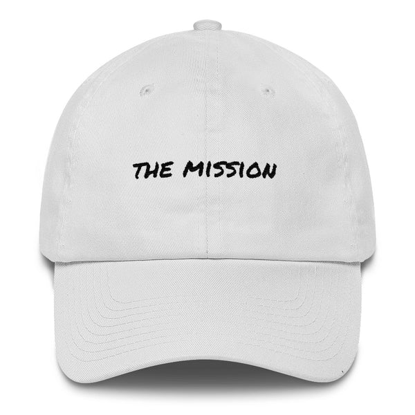 the-mission-dad-hat-White