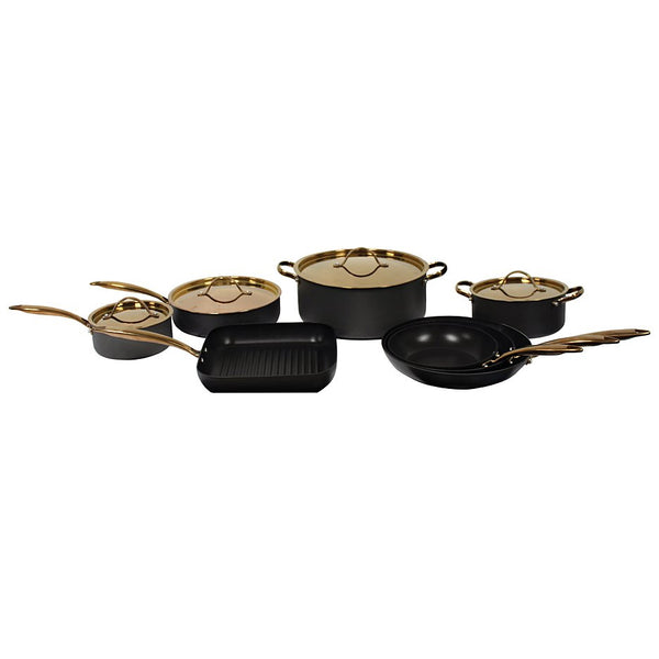 Ouro Black Hard Anodized 12-Piece Deluxe Set