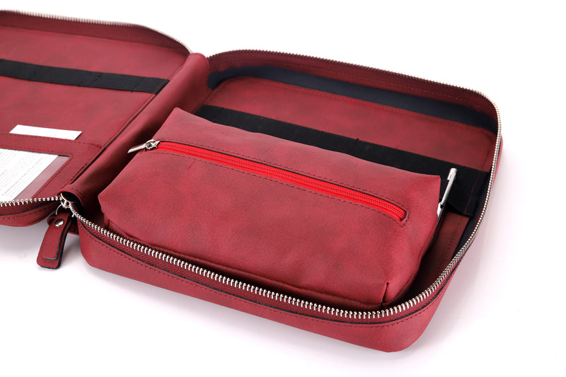 Premium Leather Travel Tech Organizer