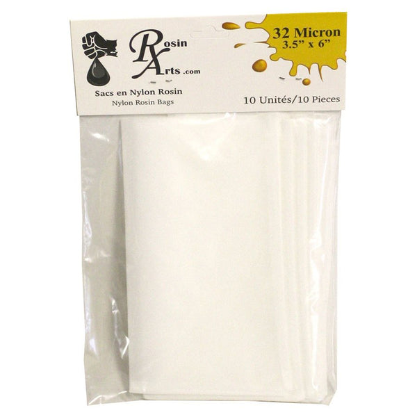 "Rosin Arts Nylon Rosin Bags 3.5"" x 6"" 32 Microns - 10 Pack"