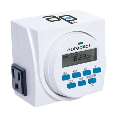 Autopilot 7 Day Digital Timer 120V - 2 Outlet
