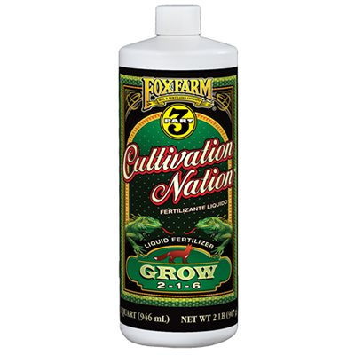 Foxfarm Cultivation Nation Grow 2-1-6 - 1 Qt.