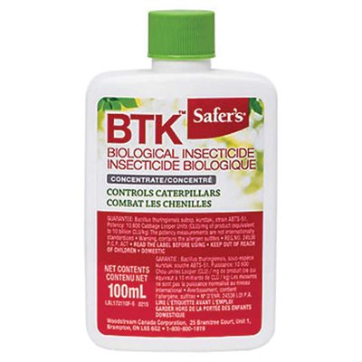 Safer's BTK Biological Insecticide Concentrate 100mL