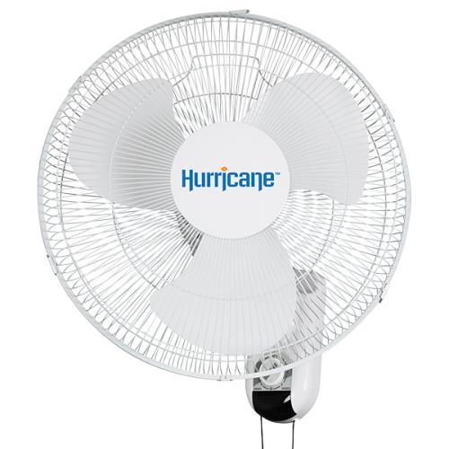 "Hurricane Classic 16"" Oscillating Wall-Mount Fan"