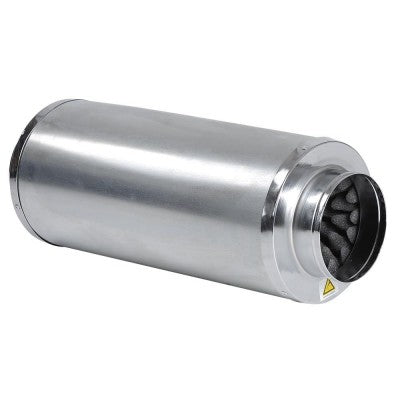 "4"" Inline Fan Noise Muffler Air Duct Silencer"